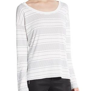 Splendid Striped Supima Cotton Tee Shirt